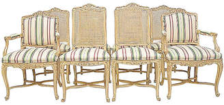One Kings Lane Vintage Country French Dining Chairs - Set of 8 - House of Charm Antiques