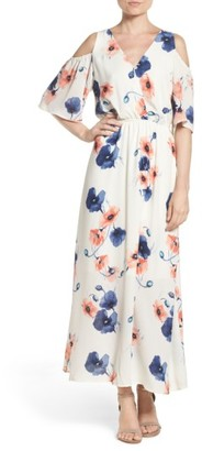 Women's Fraiche By J Cold Shoulder Maxi Dress $113 thestylecure.com
