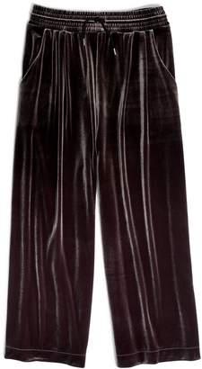 Madewell Huston Stretch Velvet Crop Pants