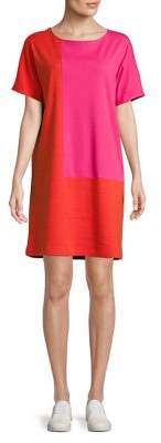 Joan Vass Colorblock T-Shirt Dress