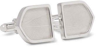 Maison Margiela Sterling Silver And Feather Cufflinks