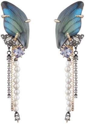 Alexis Bittar Fringed Crystal Clip On Drop Earrings