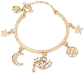 BCBGeneration Bcbg Gold-Tone Crystal Mystical Charm Bracelet