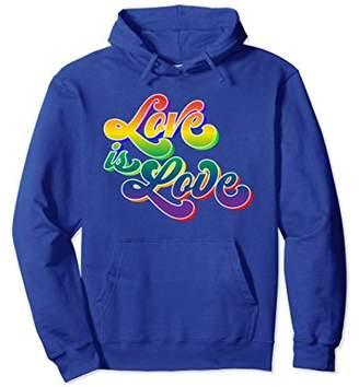 Gay Pride Shirt Rainbow 70s Retro Love is Love LGBTQ Hoodies