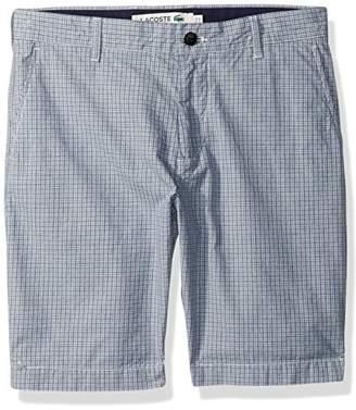 Lacoste Men's Mini Check Textured Bermuda Short
