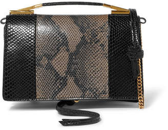 Stella McCartney Python-effect Faux Leather Shoulder Bag - Black