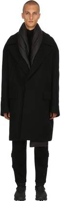 Juun.J Oversized Wool Coat W/ Padded Scarf