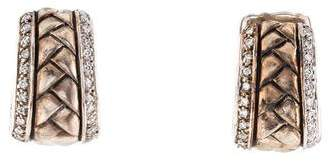 Scott Kay Diamond Woven Hoop Earrings