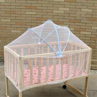 Wedlies Meigar White Safe Baby Mosquito Nets Cradle Bed Canopy Mosquito Net Toddler's Crib Cot Netting Bedroom Accessories