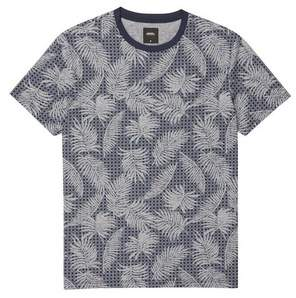 76ad72831f43 Burton Mens Navy Floral Geometric All Over Print T-Shirt
