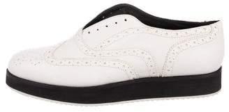 Rag & Bone Leather Brogue Slip-On Sneakers
