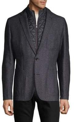 HUGO BOSS Two-Piece Textured Jacket & Vest Set