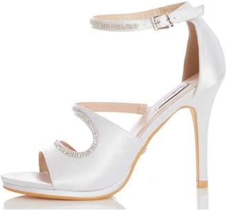 Dorothy Perkins Womens *Quiz Ivory Bridal Diamante Heeled Sandals