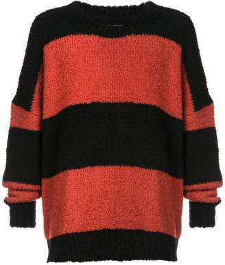 Amiri striped oversized sweater