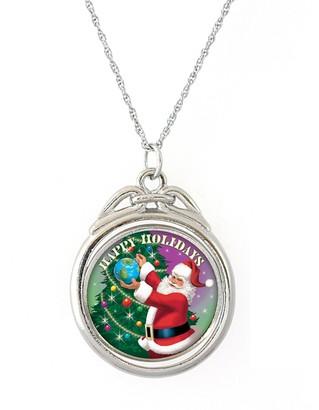 JFK American Coin Treasures Happy Holidays Colorized Half-Dollar Spinner Pendant