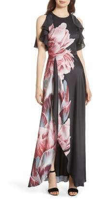 Ted Baker Ulrika Tranquility Ruffle Maxi Dress