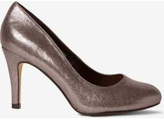Dorothy Perkins Womens Wide Fit Pewter 'Dallas' Court Shoes