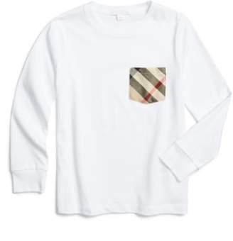 Burberry Check Print Pocket T-Shirt