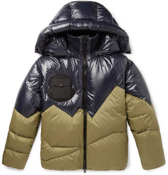 Moncler Genius - 2 1952 Two-Tone Quilted Shell Hooded Down Jacket - Men - Navy