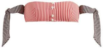 Solid & Striped The Mackenzie Bandeau Bikini Top - Womens - Red Stripe