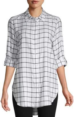 Calvin Klein Collection Windowpane Button-Down Shirt