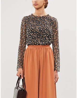 See by Chloe Ditsy floral-pattern crepe top