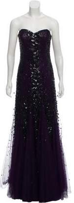 Alberto Makali Strapless Embellished Evening Dress w/ Tags