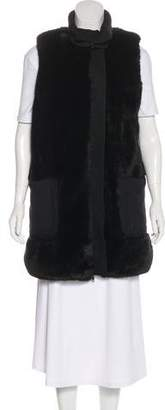 Misha Nonoo Faux Fur-Lined Zip-Up Vest