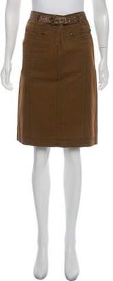 Philosophy di Alberta Ferretti Embellished Knee-Length Skirt