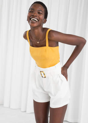 And other stories Belted Paperbag Waist Shorts