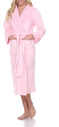 White Mark Women's Super Soft Lounge Robe - Extended Sizes