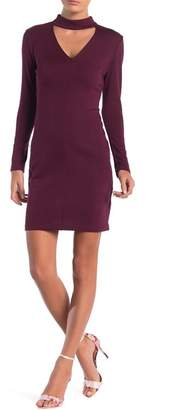 Cynthia Steffe CeCe by Isabella Mock Neck Long Sleeve Dress