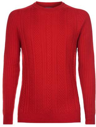 Johnstons of Elgin Cashmere Cable Knit Sweater