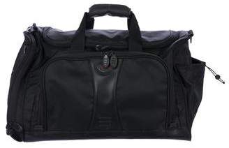 Tumi Leather-Trimmed Nylon Duffel Bag