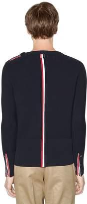 Thom Browne Intarsia Stripe Cotton Knit Sweater
