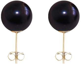 ORA Pearls - Medium Black Pearl Stud Earrings 9ct Gold