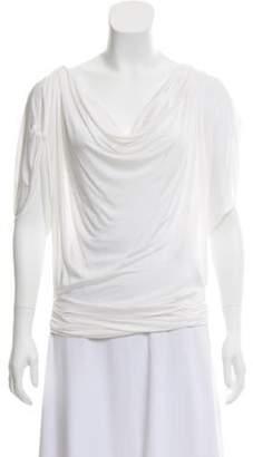 Christian Dior Bateau Neck Short Sleeve Blouse Bateau Neck Short Sleeve Blouse