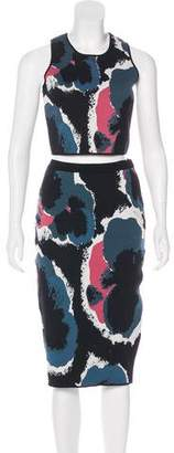 Timo Weiland Abstract Print Top and Skirt Set