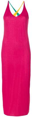 Diane von Furstenberg v-neck colour block dress
