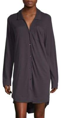 Button-Down Cotton Sleepshirt