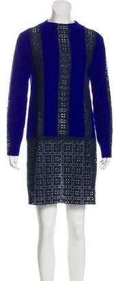 Sacai Luck Embroidered Mini Dress