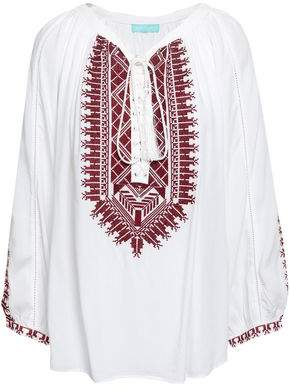 Melissa Odabash Simona Embroidered Woven Coverup