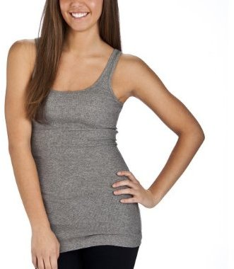 Mossimo Supply Co. Juniors Long & Lean Tank - Heather Grey