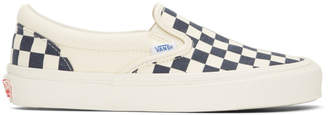 Vans Blue and White OG Checkerboard Classic Slip-On Sneakers