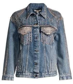 Alice + Olivia Jeans Oversized Denim Jacket