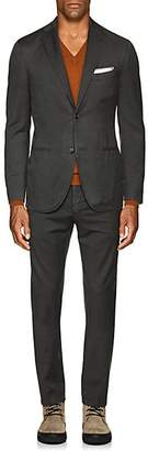 "Boglioli Men's ""K Suit"" Wool Twill Two-Button Suit - Olive"