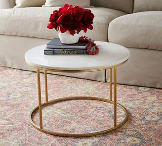 Pottery Barn Delaney Marble Round Coffee Table