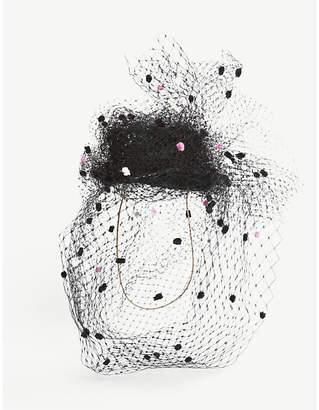 Stephen Jones Incredible netting headpiece