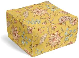 Loom Decor Square Pouf On the Bright Side - Mimosa