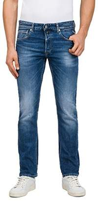 Replay Men's Grover Straight Jeans, (Mid Blue Denim 7), W30/L30